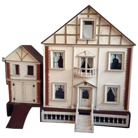 Large G&J Lines dolls house for top end of market with coach house : Daisydoradolls | Ruby Lane
