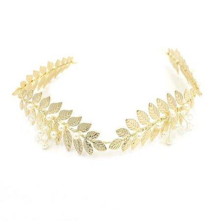 Greek Goddess Gold Leaf Head Piece