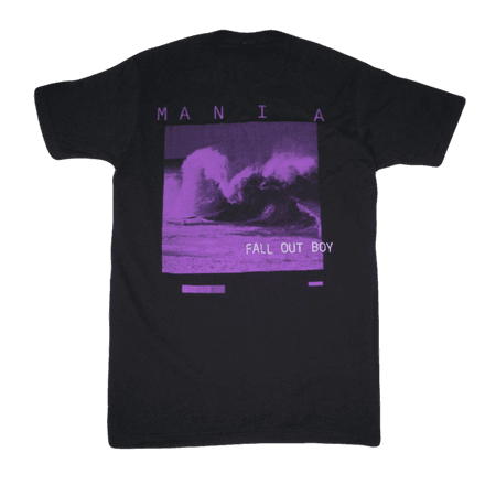 M A N I A Purple Wave Tee   T-Shirts   Fall Out Boy