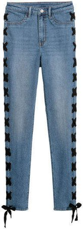 Jeans with Lacing - Blue