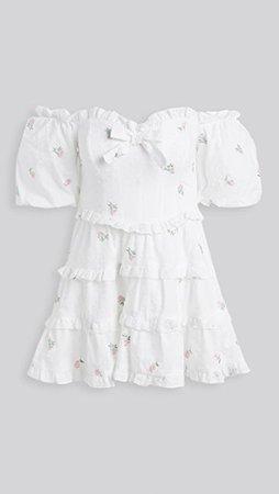 For Love & Lemons Rainey Off Shoulder Mini Dress | SHOPBOP