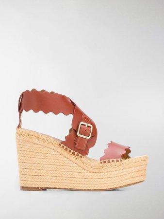 Lauren espadrille wedge sandals