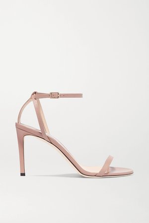 Antique rose Minny 85 leather sandals | Jimmy Choo | NET-A-PORTER