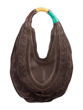 Costume National Suede & Leather Hobo - Handbags - COT26331 | The RealReal