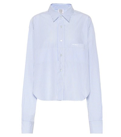 Vetements - Striped cotton shirt | Mytheresa