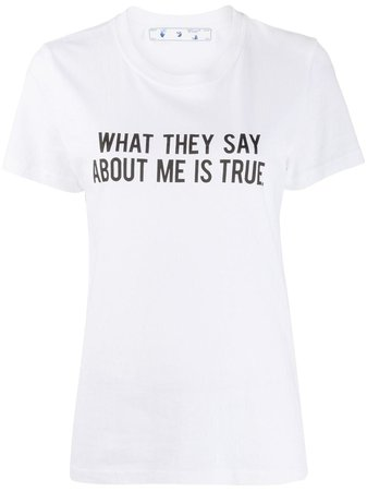 Off-White Quote Print T-shirt - Farfetch