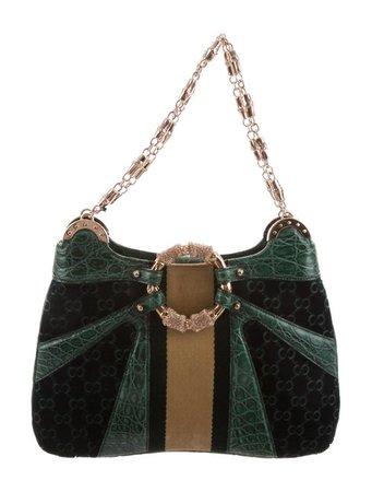 Gucci Crocodile & Velvet Dragon Series Bag - Handbags - GUC250251   The RealReal
