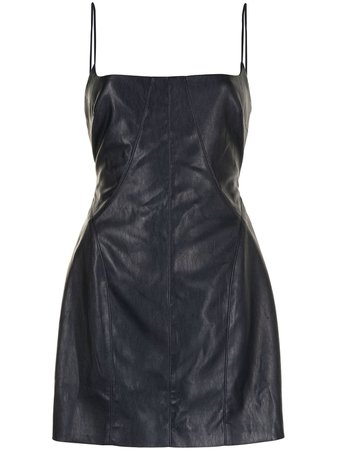 *clipped by @luci-her* MANNING CARTELL faux leather mini dress with Express Delivery - FARFETCH