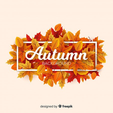 Autumn background with message and typography Vector | Free Download