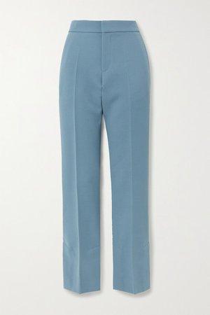 Robyn Wool Straight-leg Pants - Blue
