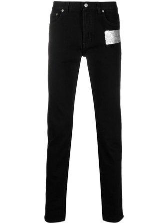 Givenchy logo brushstroke slim jeans black BM50S45015 - Farfetch