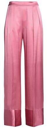 Michael Lo Sordo Silk-satin Wide-leg Pants
