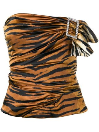 Alexandre Vauthier tiger print top $735 - Buy SS19 Online - Fast Global Delivery, Price