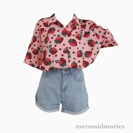 strawberry shirt outfit png clothing