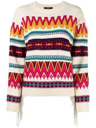 TWINSET patterned stripes jumper - FARFETCH