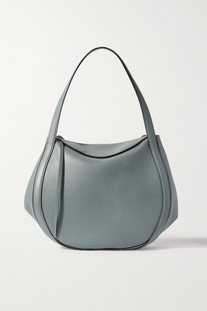 Lin Leather Tote - Gray