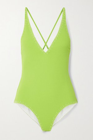 Sole Swimsuit - Bright green