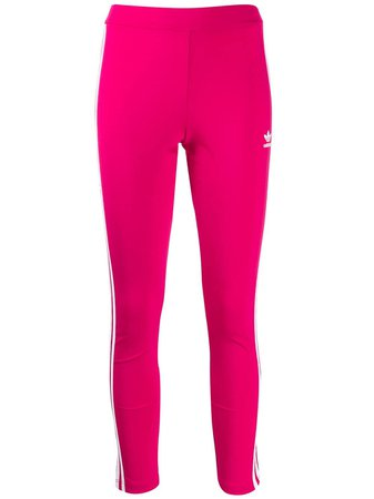 Pink Adidas Signature Stripe Leggings   Farfetch.com