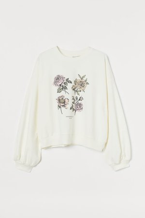 Cotton Sweatshirt - White