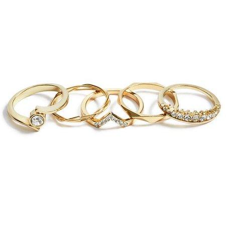 gold ring set polyvore - Pesquisa Google
