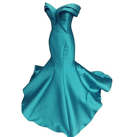Mathena Women's Vintage Off Shoulder Cap Sleeve Mermaid Prom Gown Evening Dress US 10 Blue at Amazon Women's Clothing store: