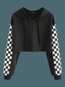 Sweat à Capuche Carré Contrasté Noir: Sweat-shirts S | ZAFUL
