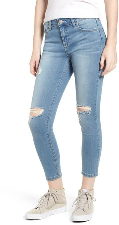 Ripped Crop Skinny Jeans