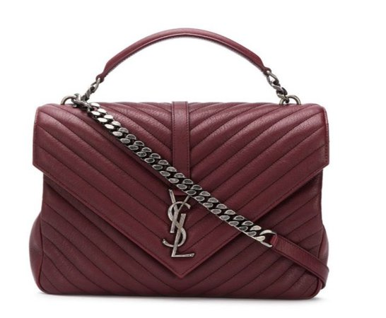 Yves Saint Laurent bordeaux red bag