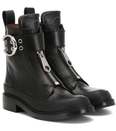 Chloé - Roy leather ankle boots   Mytheresa