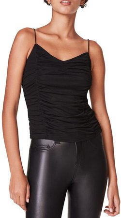 Ruched Tank Black