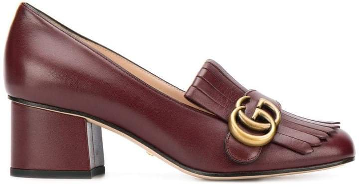 Double G fringed loafers