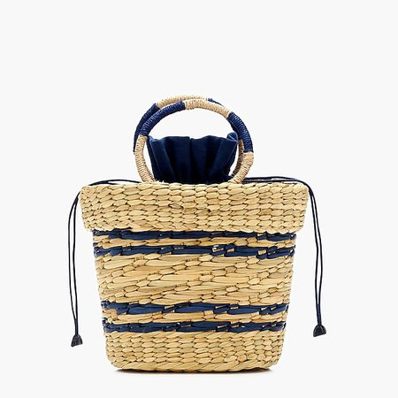 J.Crew: Poolside X J.Crew Striped Mak Mini Beach Tote navy