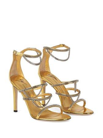 Giuseppe Zanotti Metallic chain-trim Sandals - Farfetch
