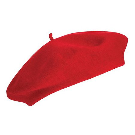 Laulhère Hats Kids Merino Wool Beret - Red from Village Hats.