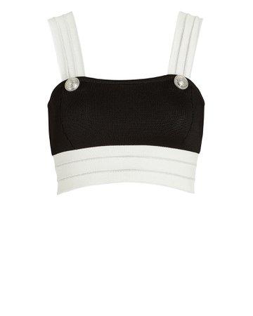 Balmain Colorblock Knit Crop Top | INTERMIX®