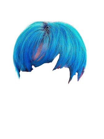 Blue Hair PNG
