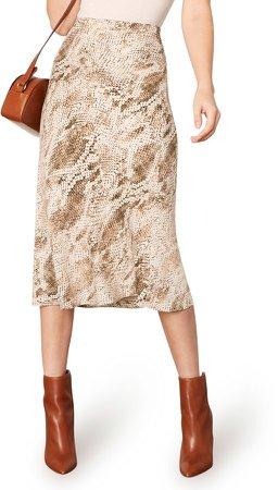Linda Snake Print Skirt