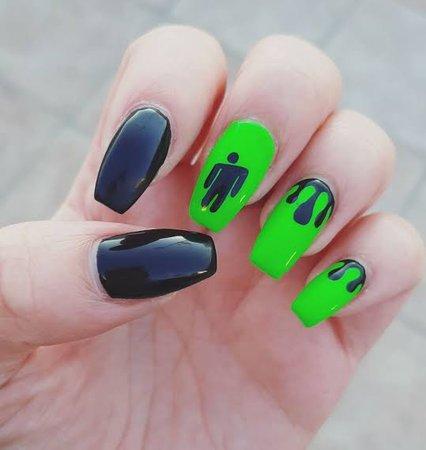 billie Eilish inspired manicure - Google Search