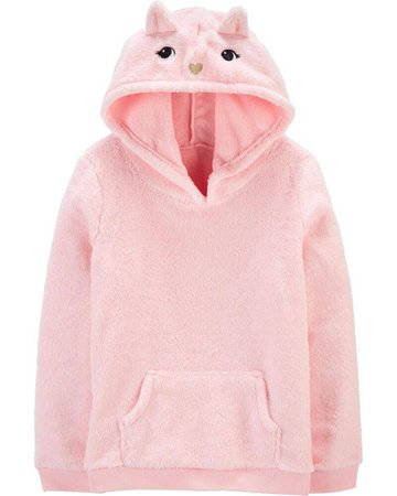 Panda Pullover Fuzzy Hoodie | carters.com