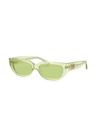 Valentino Eyewear VLOGO rectangular-frame Sunglasses - Farfetch