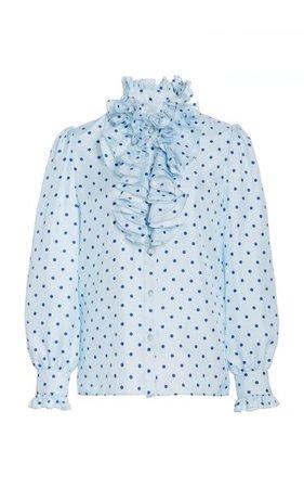 Ruffle-Trimmed Polka-Dot Silk Blouse By Rodarte | Moda Operandi