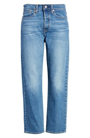 Levi's® Wedgie High Waist Crop Straight Leg Jeans (Jive Sound) | Nordstrom