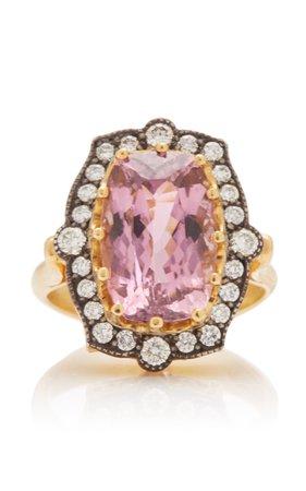 One of a Kind 22K Gold and Pink Tourmaline Ring by Arman Sarkisyan | Moda Operandi