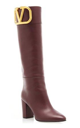 Valentino Garavani Supervee Leather Knee-High Boots By Valentino | Moda Operandi