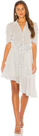 Tie Front Striped Dress