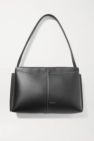 Carly Mini Leather Tote - Black