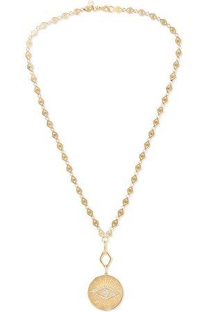 Sydney Evan | Evil Eye 14-karat gold diamond necklace | NET-A-PORTER.COM