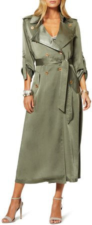 Aston Satin Trench Coat