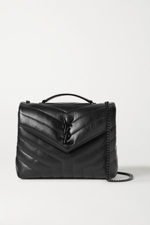 Loulou Small Quilted Leather Shoulder Bag - Black