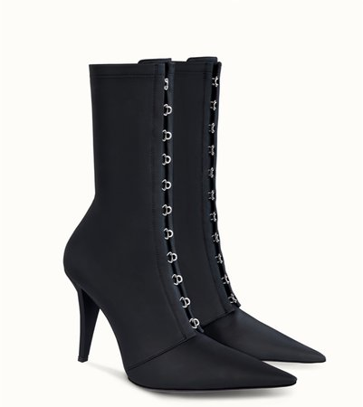 black corset boots